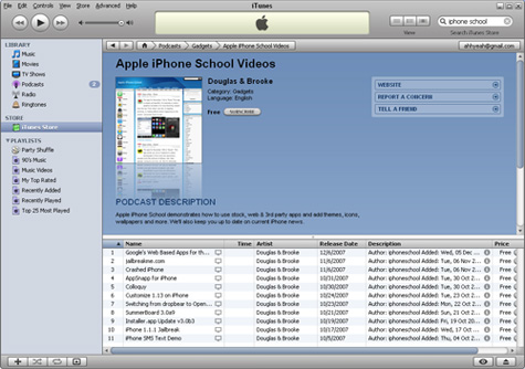 Apple iPhone School on iTunes